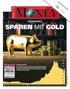 Focus Money Sparen mit Gold