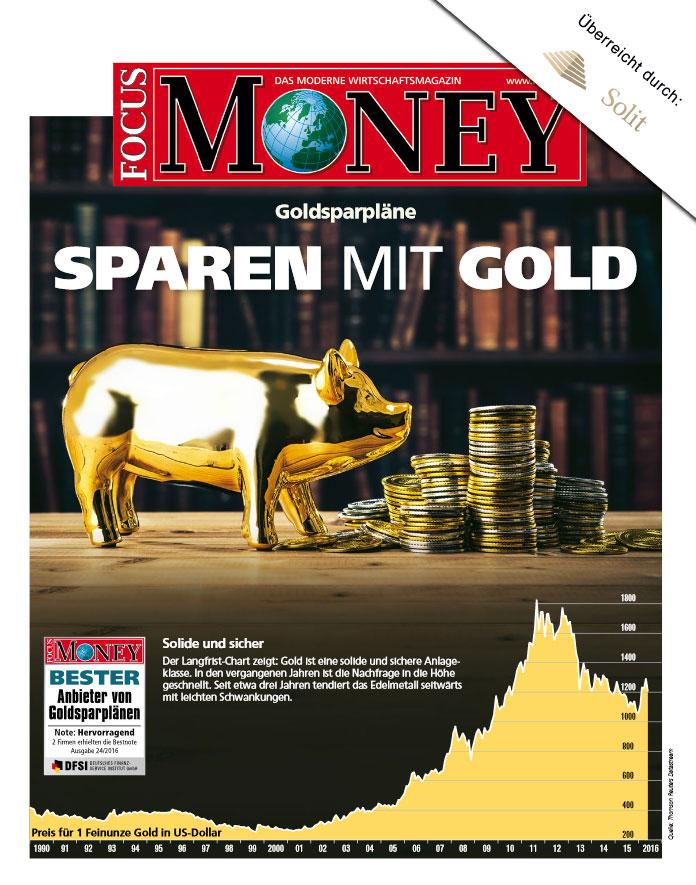 Focus Money Sparen mit Gold